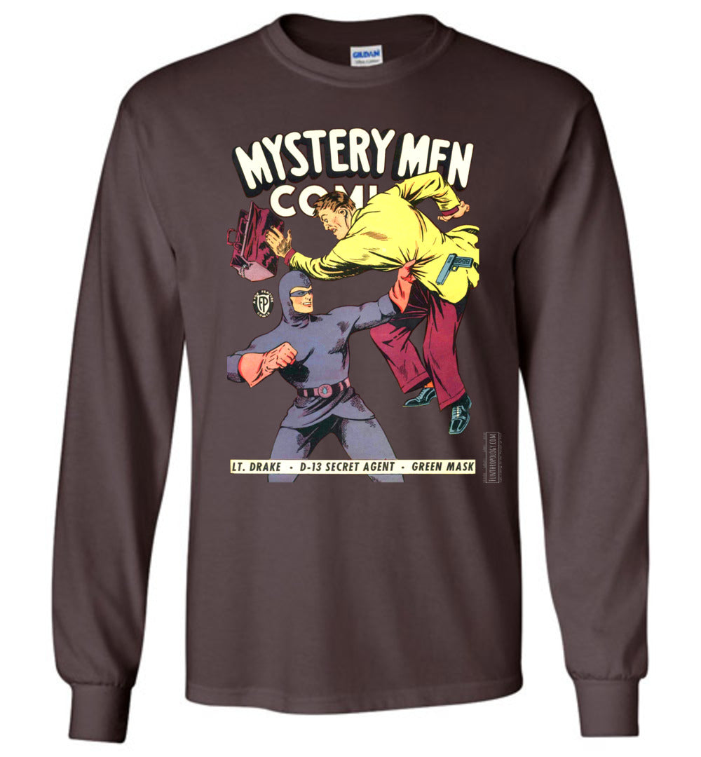 Mystery Men Comics No.18 Long Sleeve (Unisex, Dark Colors)