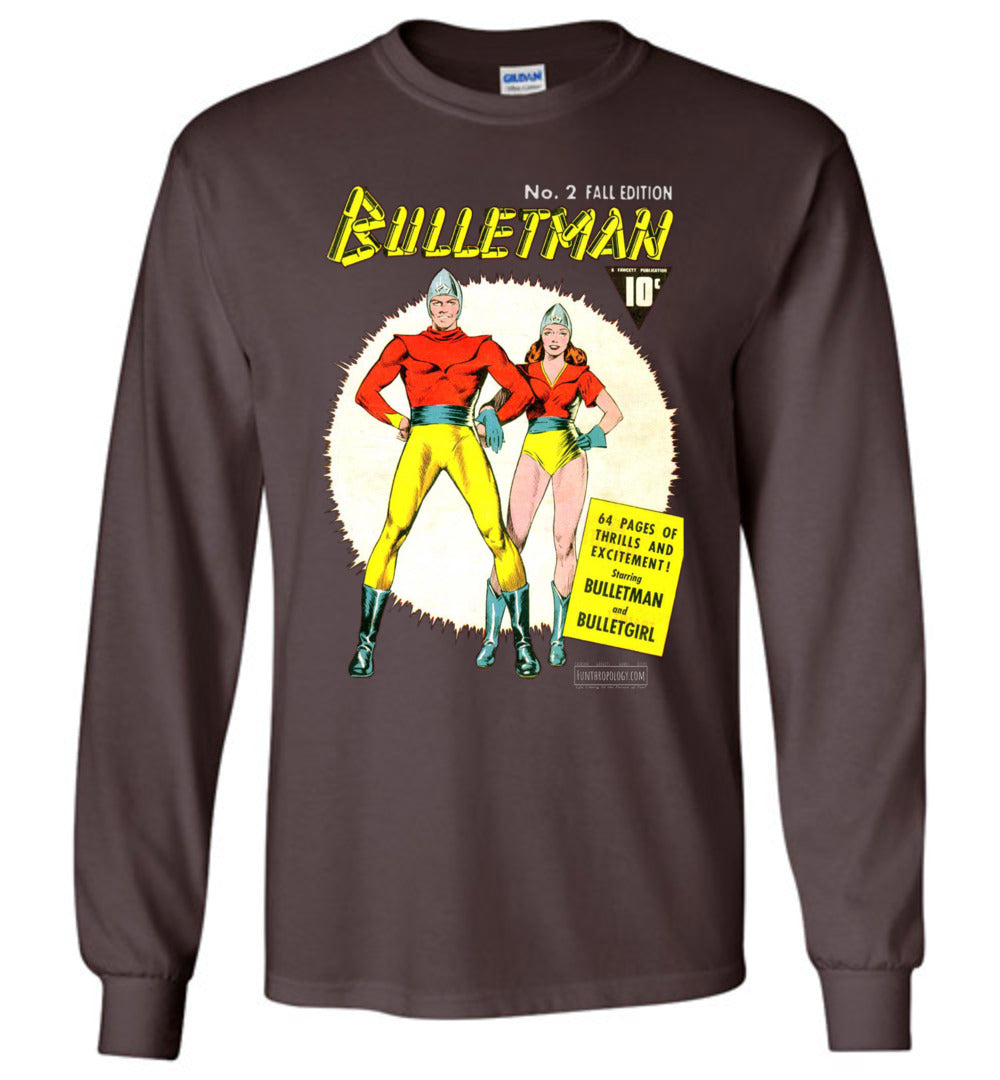 Bulletman No.2 Long Sleeve (Unisex, Dark Colors)