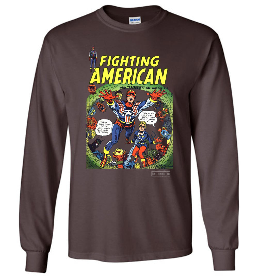 Fighting American No.2 Long Sleeve (Unisex, Dark Colors)