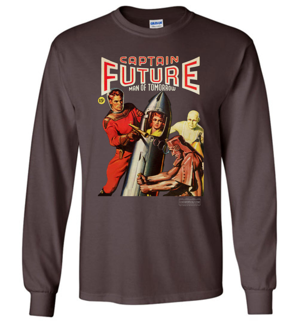 Captain Future No.8 Long Sleeve (Unisex, Dark Colors)