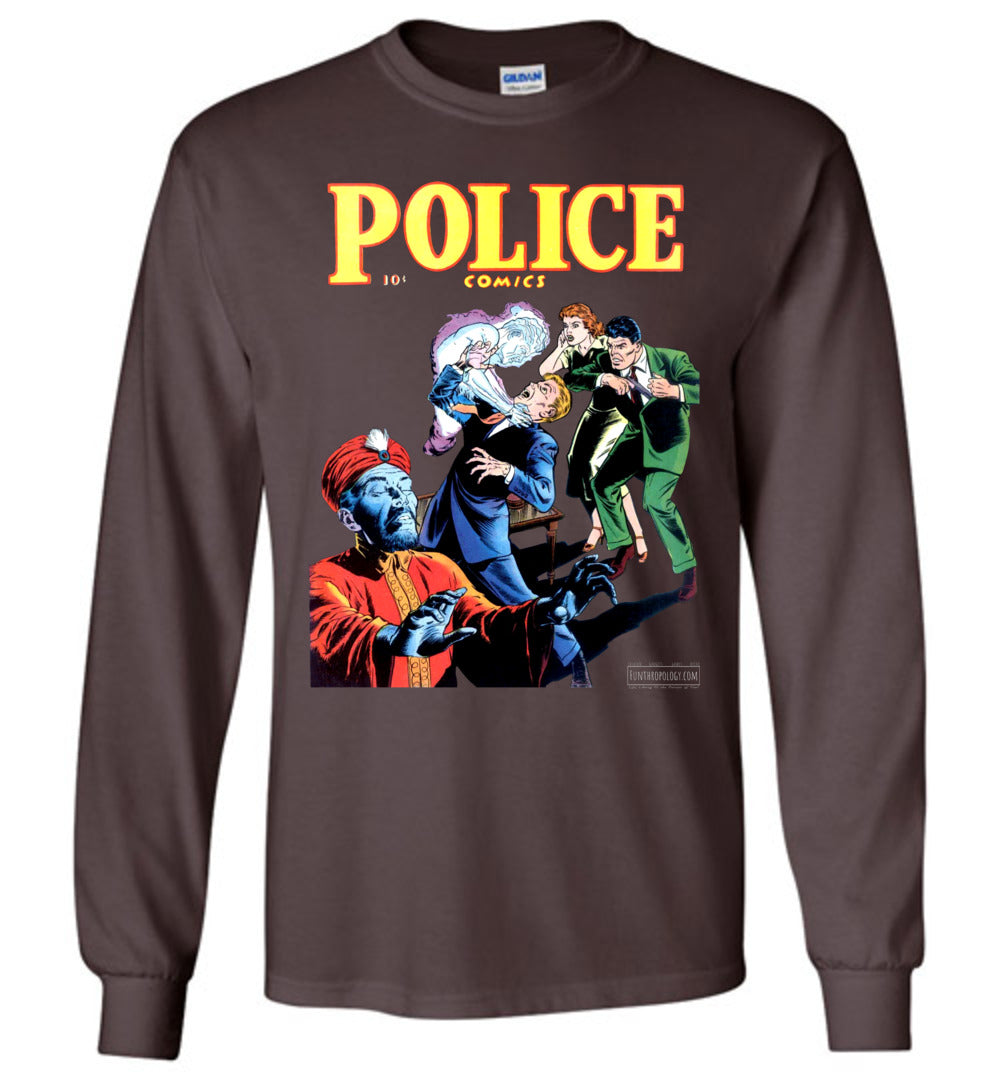 Police Comics No.105 Long Sleeve (Unisex, Dark Colors)