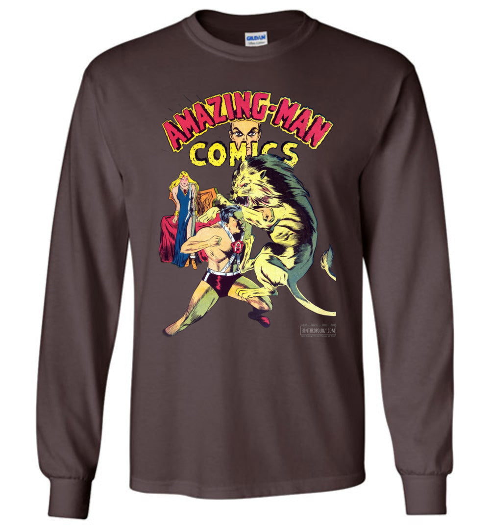 Amazing-Man Comics No.14 Long Sleeve (Unisex, Dark Colors)