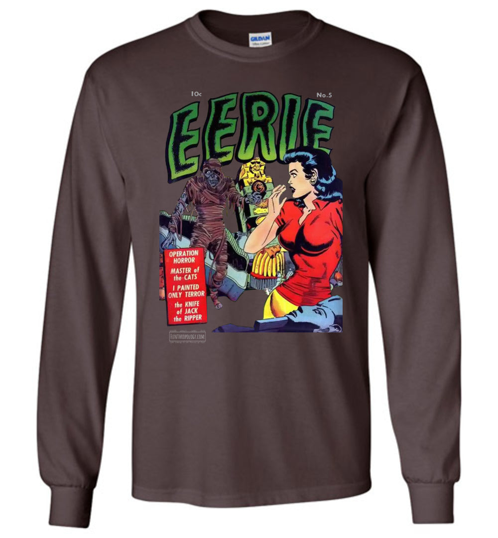Eerie Comics No.5 Long Sleeve (Unisex, Dark Colors)