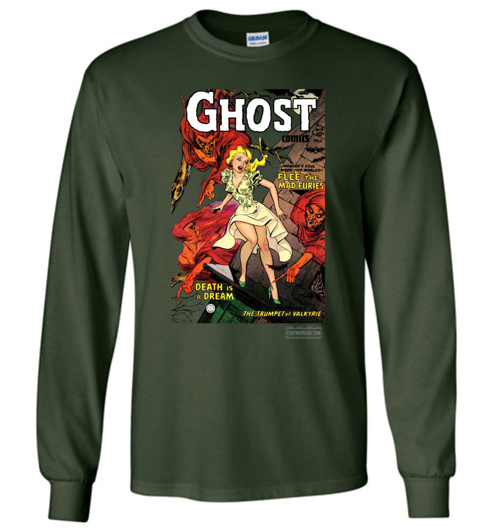 Ghost Comics No.4 Long Sleeve (Unisex, Dark Colors)