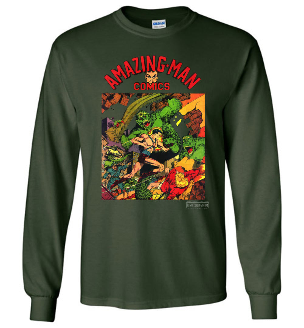 Amazing-Man Comics No.22 Long Sleeve (Unisex, Dark Colors)