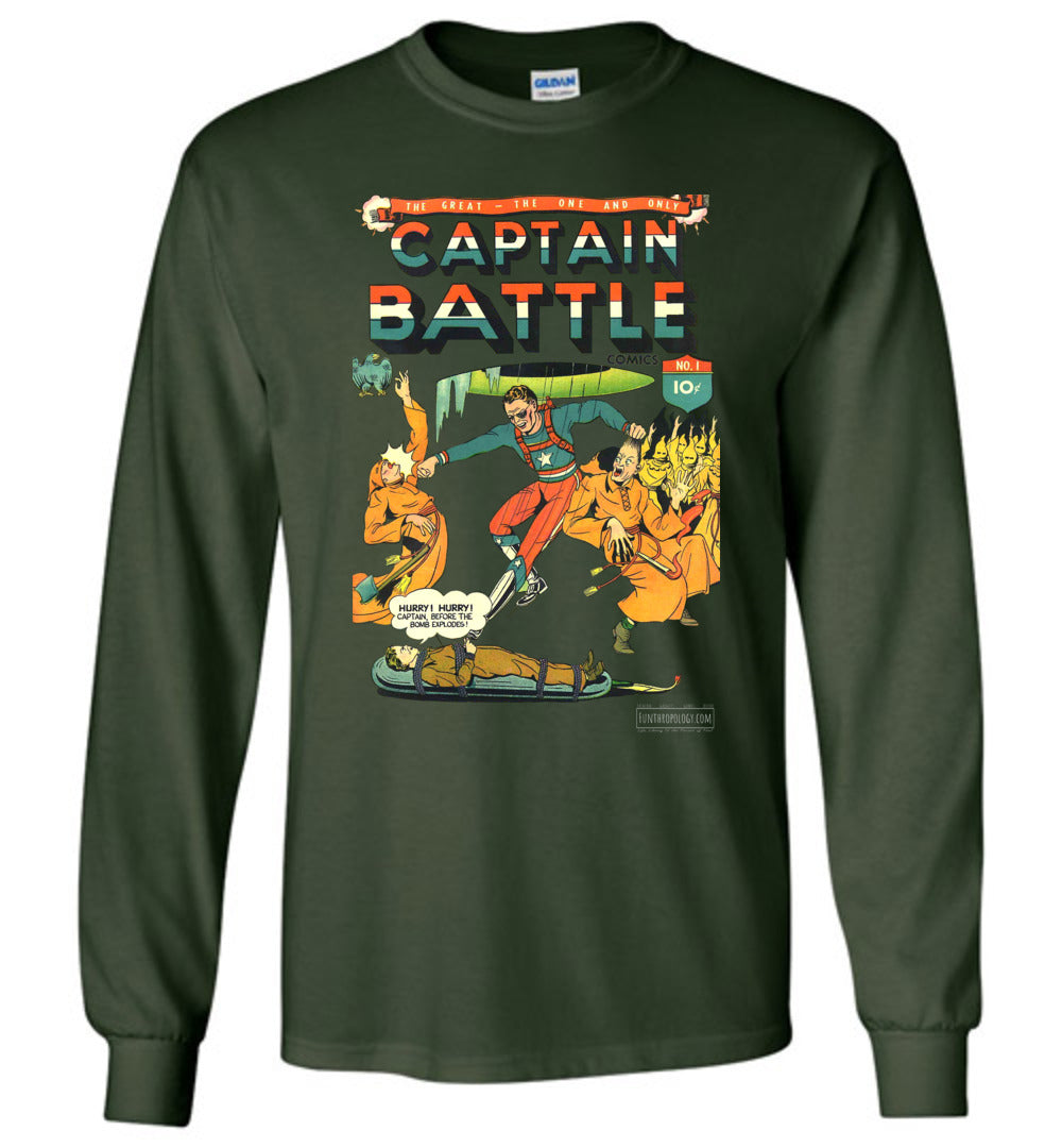 Captain Battle No.1 Long Sleeve (Unisex, Dark Colors)