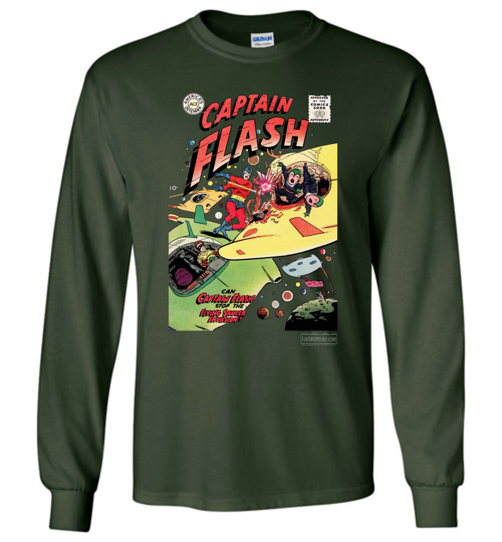 Captain Flash No.4 Long Sleeve (Unisex, Dark Colors)