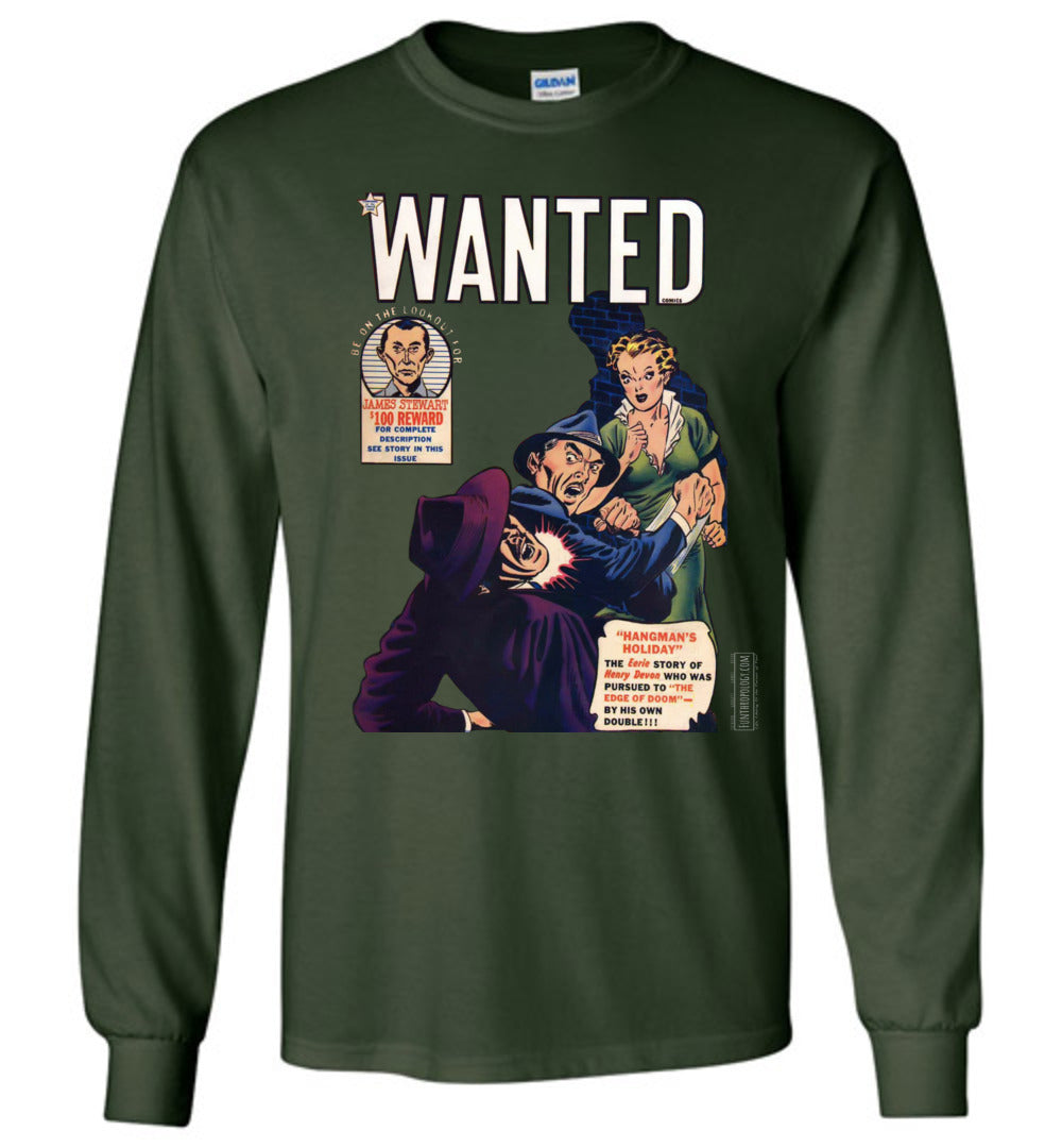 Wanted Comics No.29 Long Sleeve (Unisex, Dark Colors)