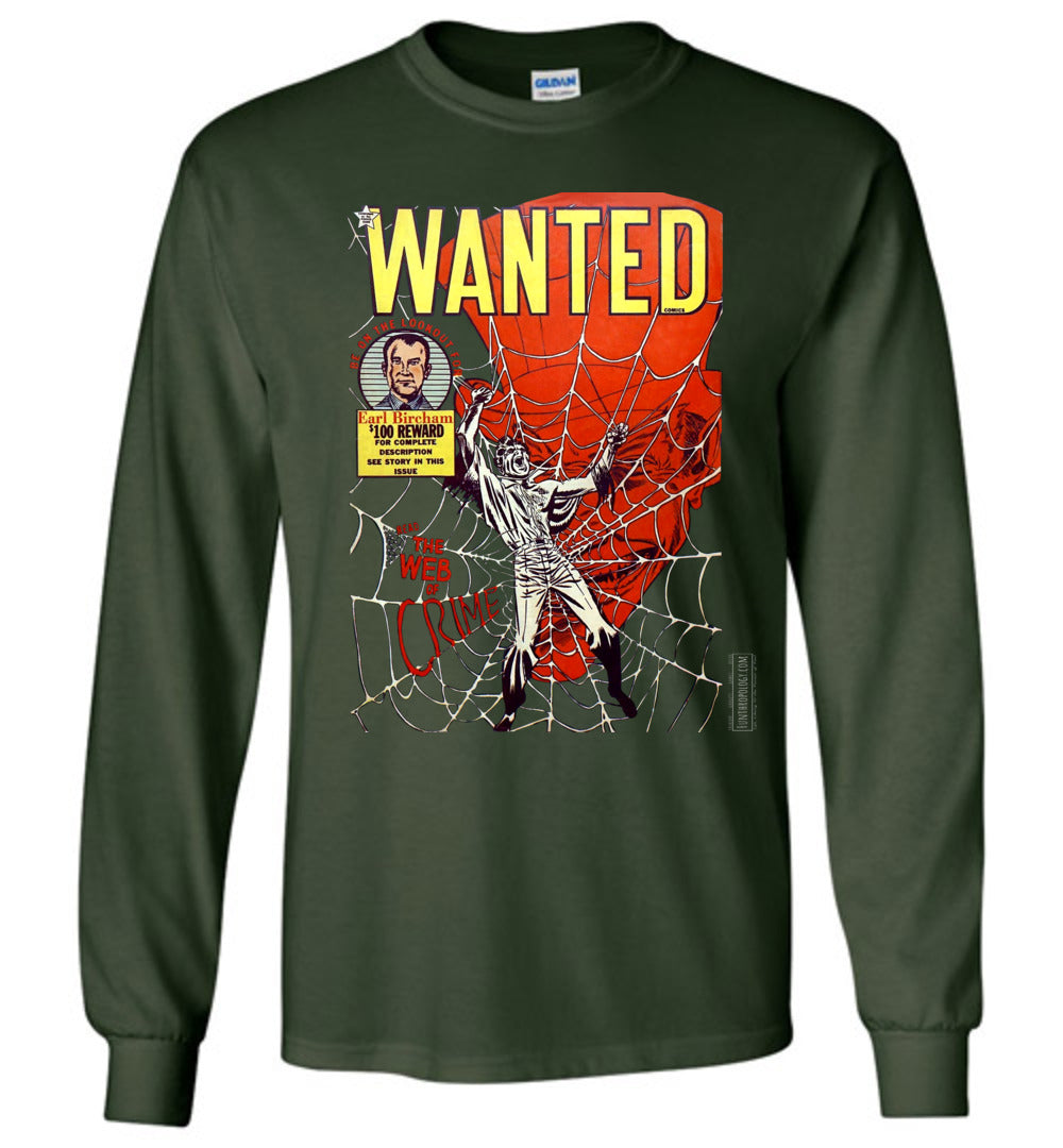 Wanted Comics No.33 Long Sleeve (Unisex, Dark Colors)