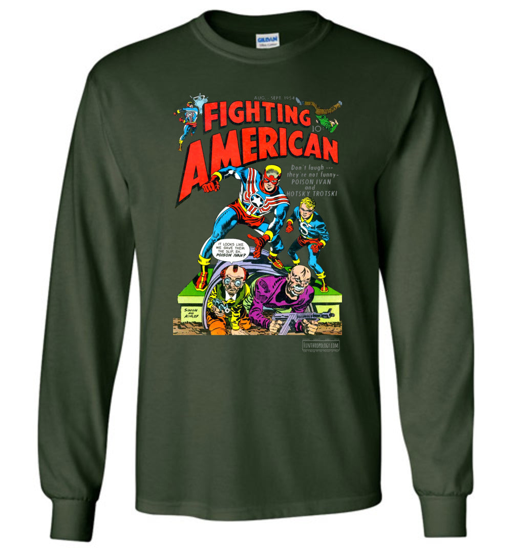 Fighting American No.3 Long Sleeve (Unisex, Dark Colors)