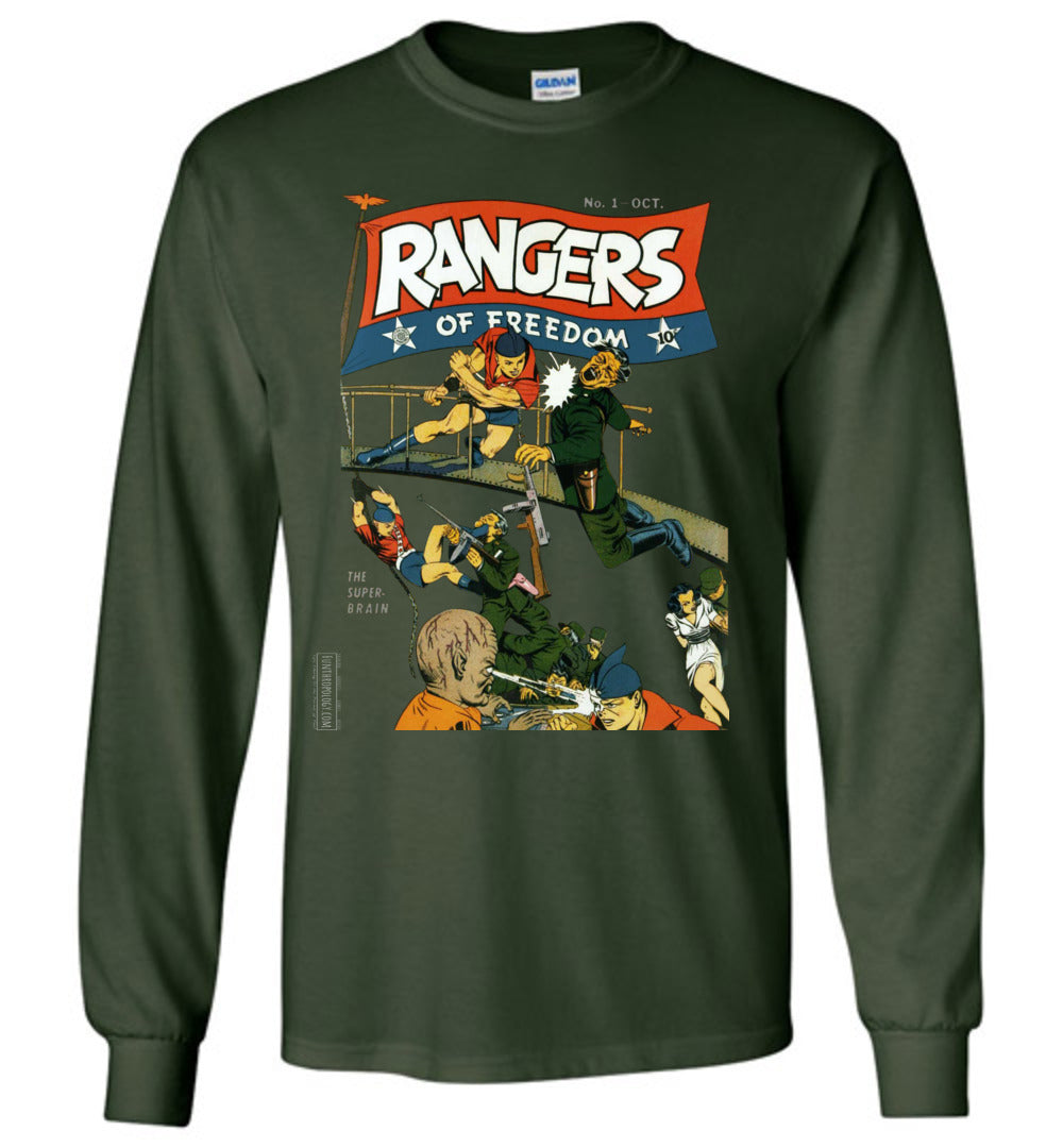 Rangers Comics No.1 Long Sleeve (Unisex, Dark Colors)