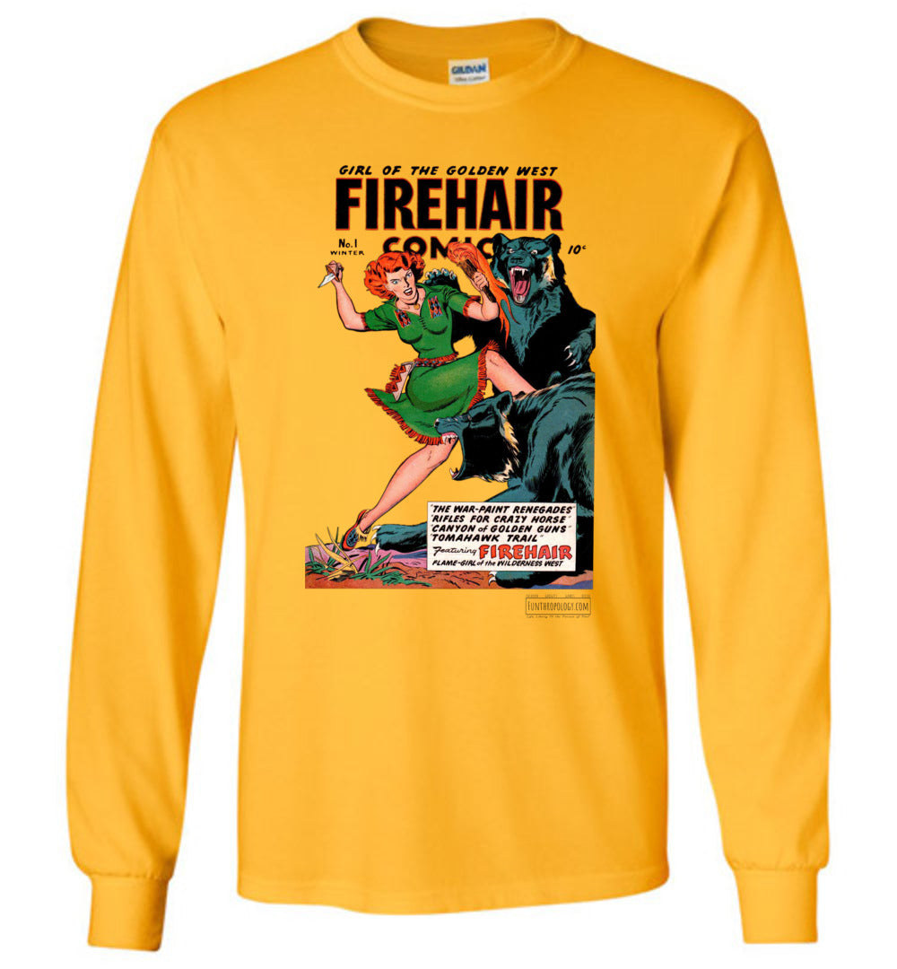 Firehair Comics No.1 Long Sleeve (Unisex, Light Colors)