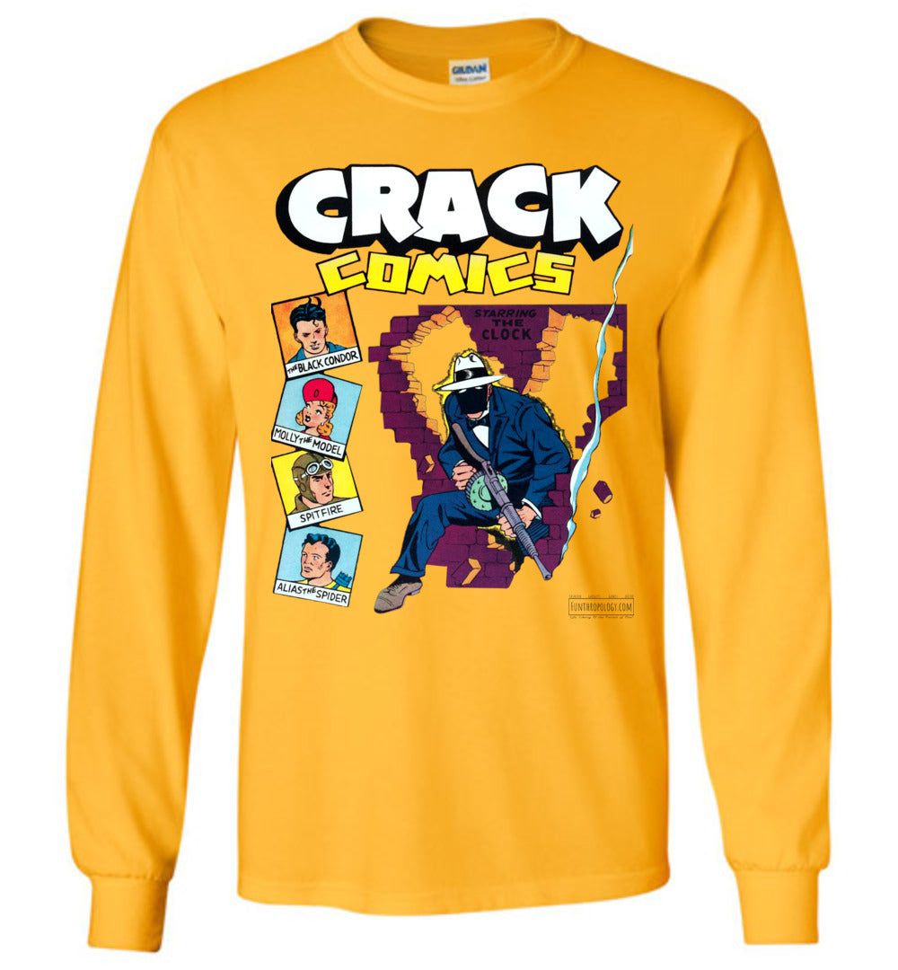 Crack Comics No.19 Long Sleeve (Unisex, Light Colors)