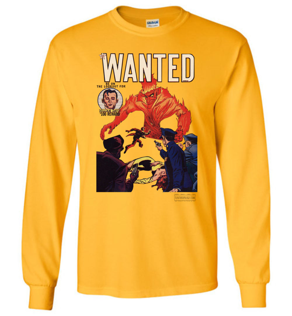 Wanted Comics No.32 Long Sleeve (Unisex, Light Colors)