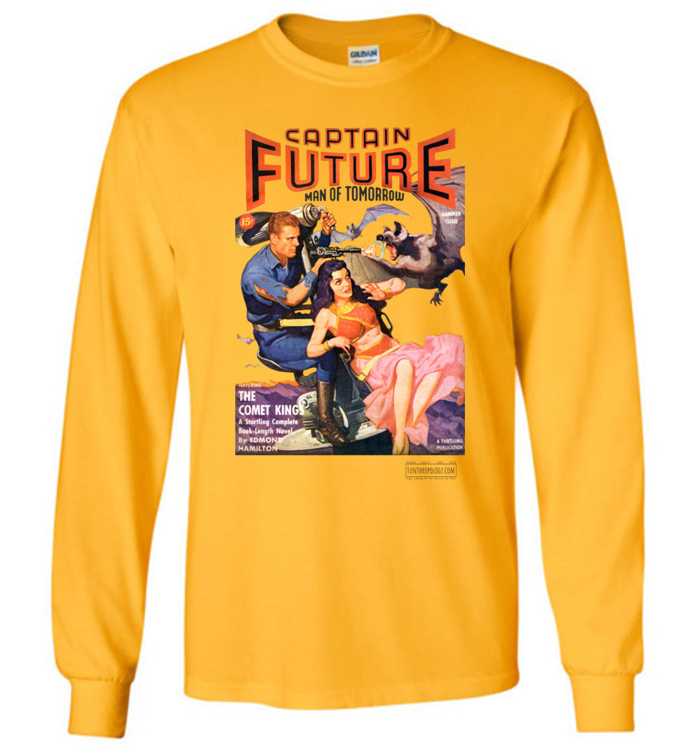 Captain Future No.11 Long Sleeve (Unisex, Light Colors)