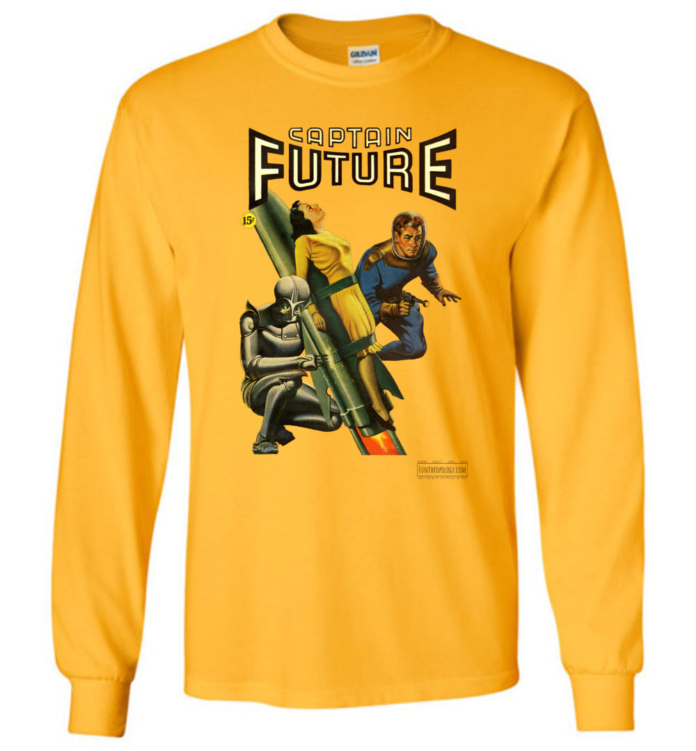 Captain Future No.3 Long Sleeve (Unisex, Light Colors)