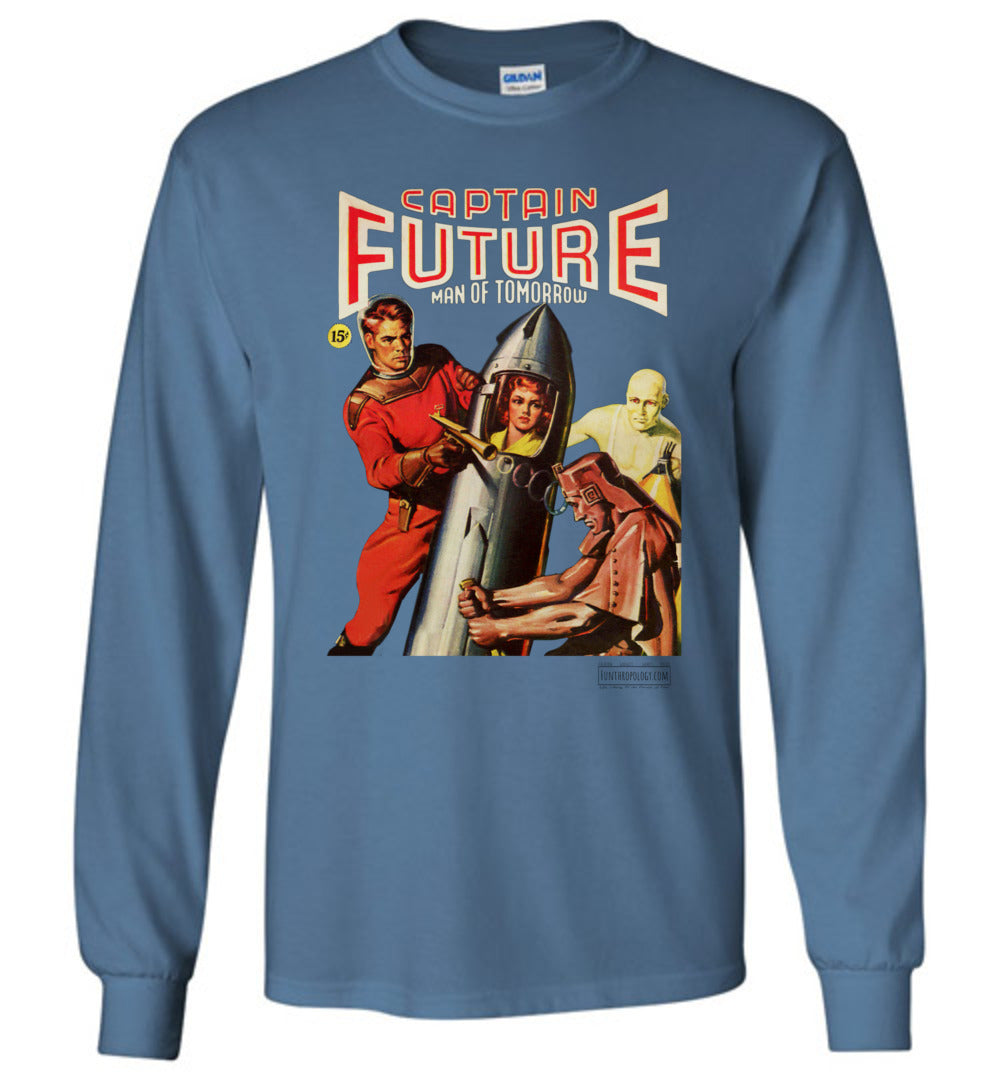Captain Future No.8 Long Sleeve (Unisex, Light Colors)
