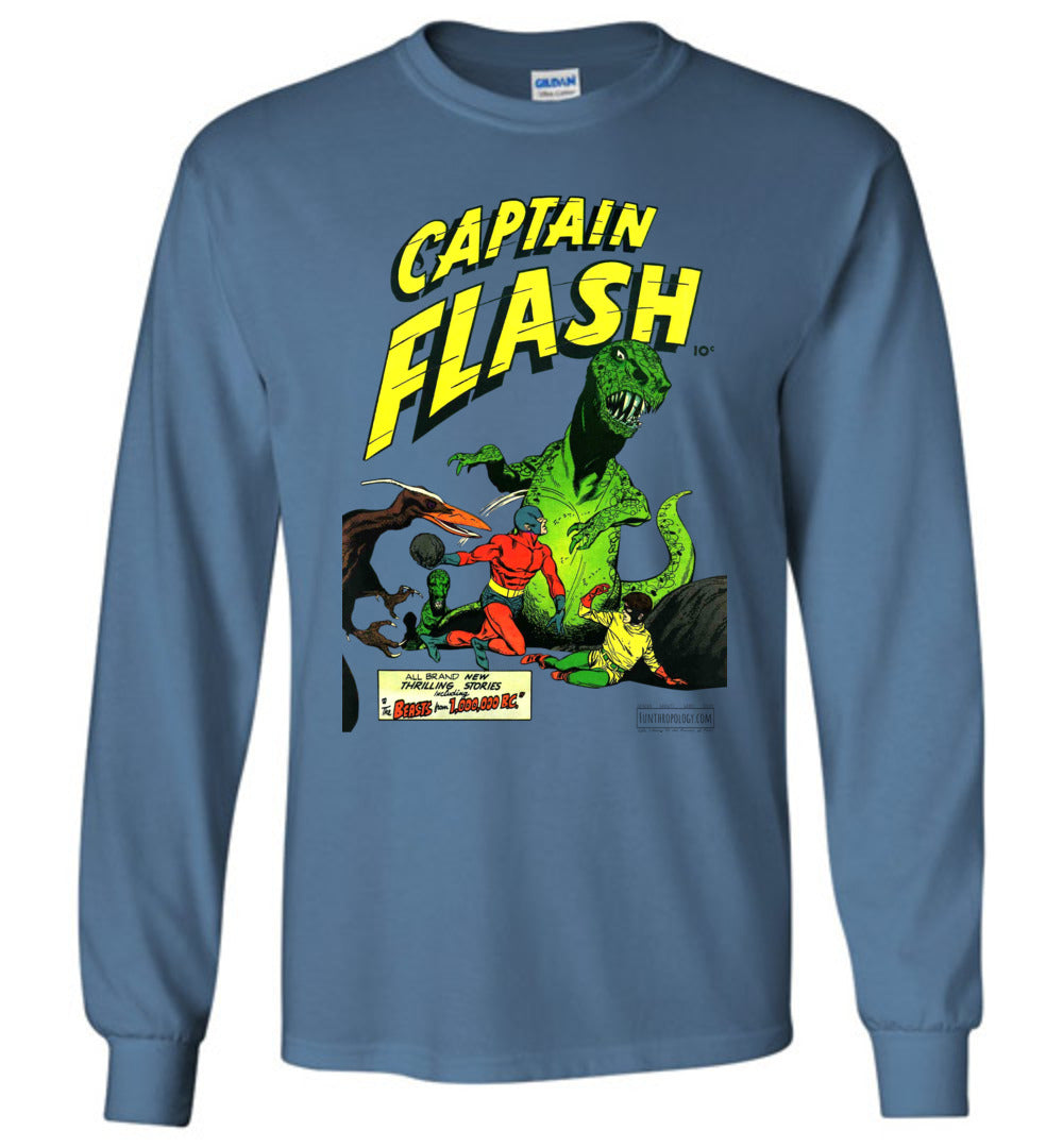 Captain Flash No.3 Long Sleeve (Unisex, Light Colors)