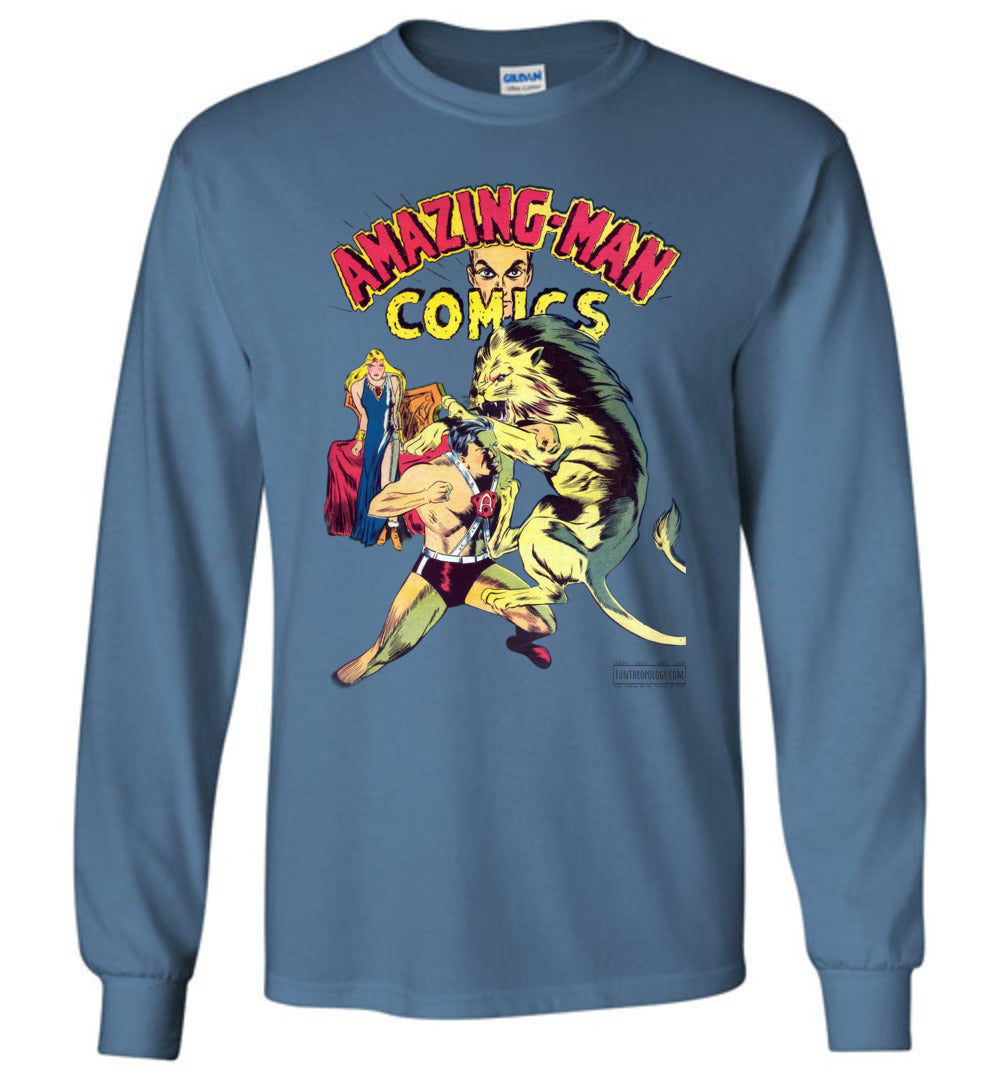 Amazing-Man Comics No.14 Long Sleeve (Unisex, Light Colors)