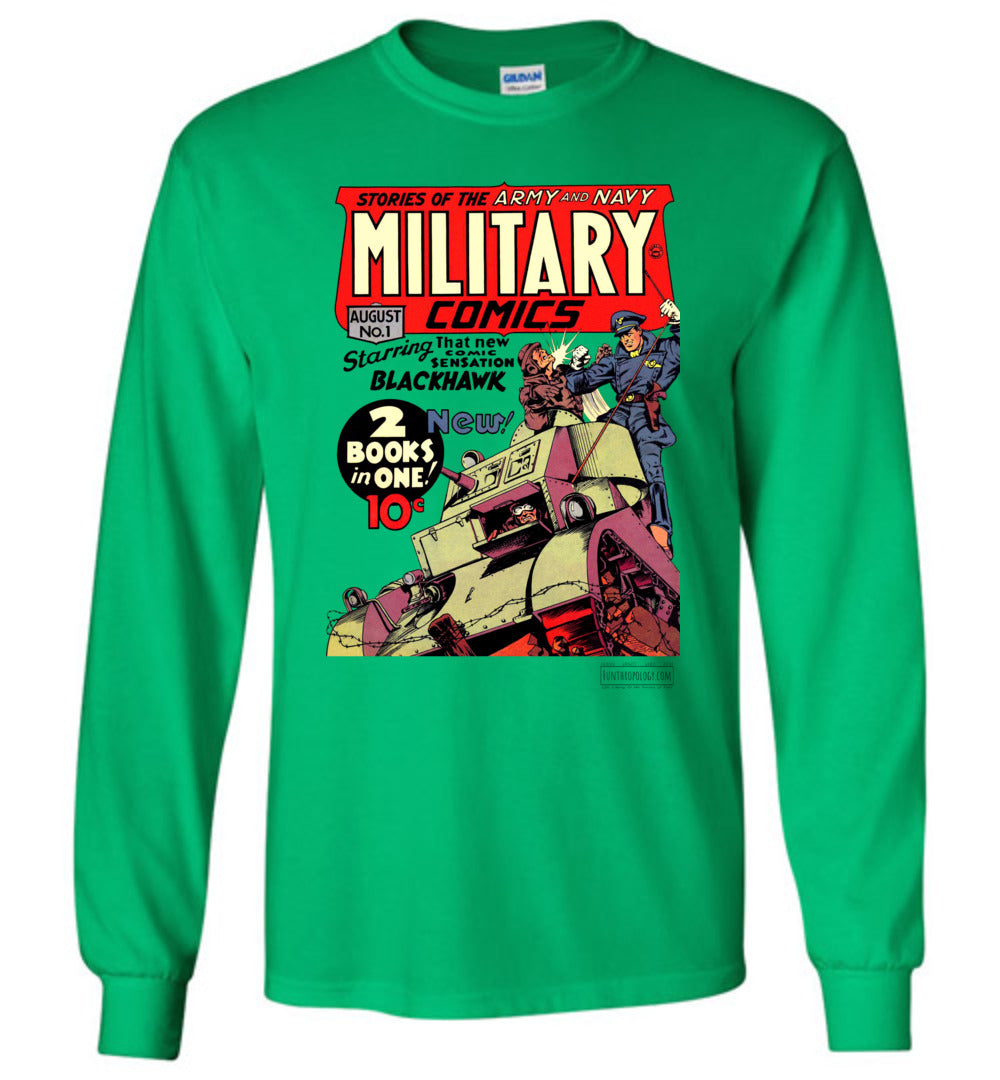Military Comics No.1 Long Sleeve (Youth, Light Colors)
