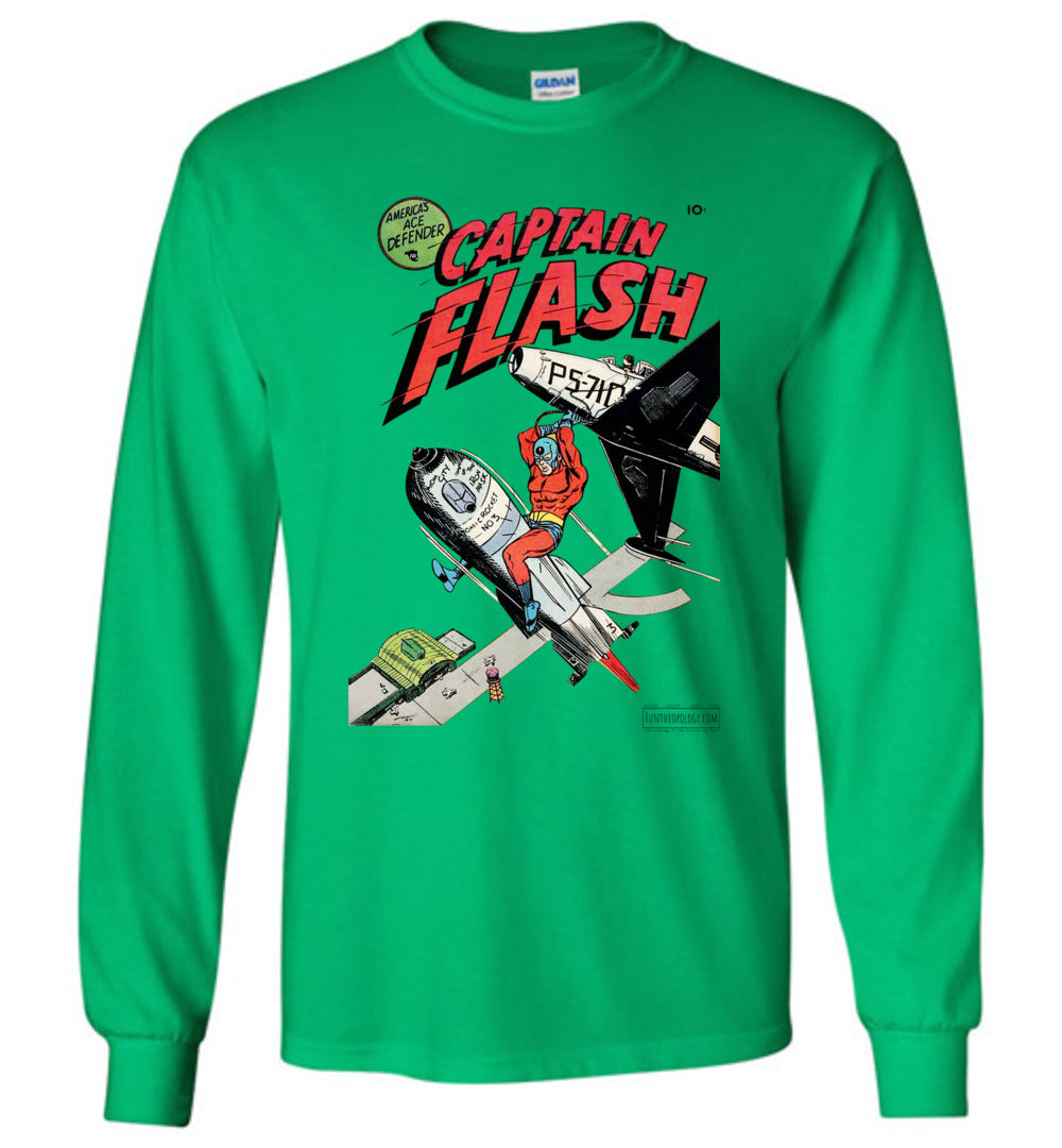 Captain Flash No.1 Long Sleeve (Unisex, Light Colors)