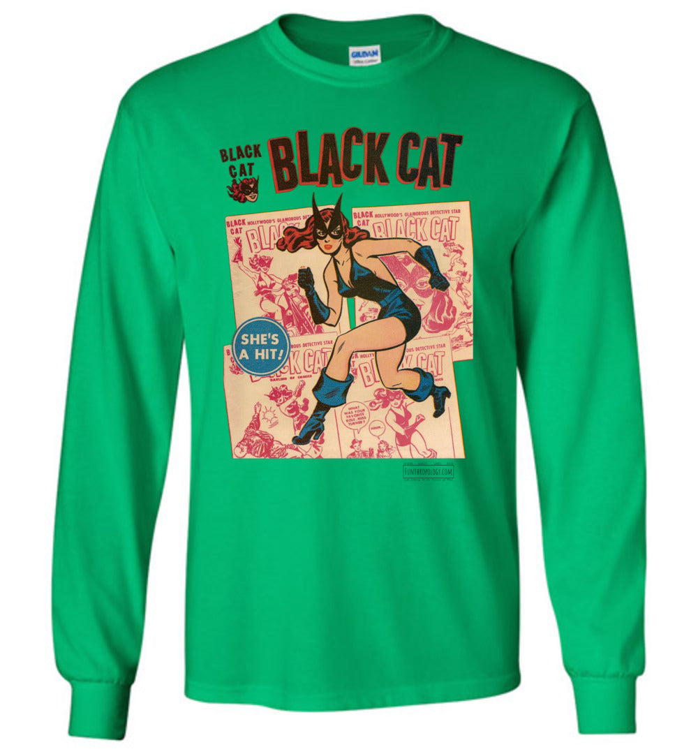 Black Cat No.6 Long Sleeve (Youth, Light Colors)