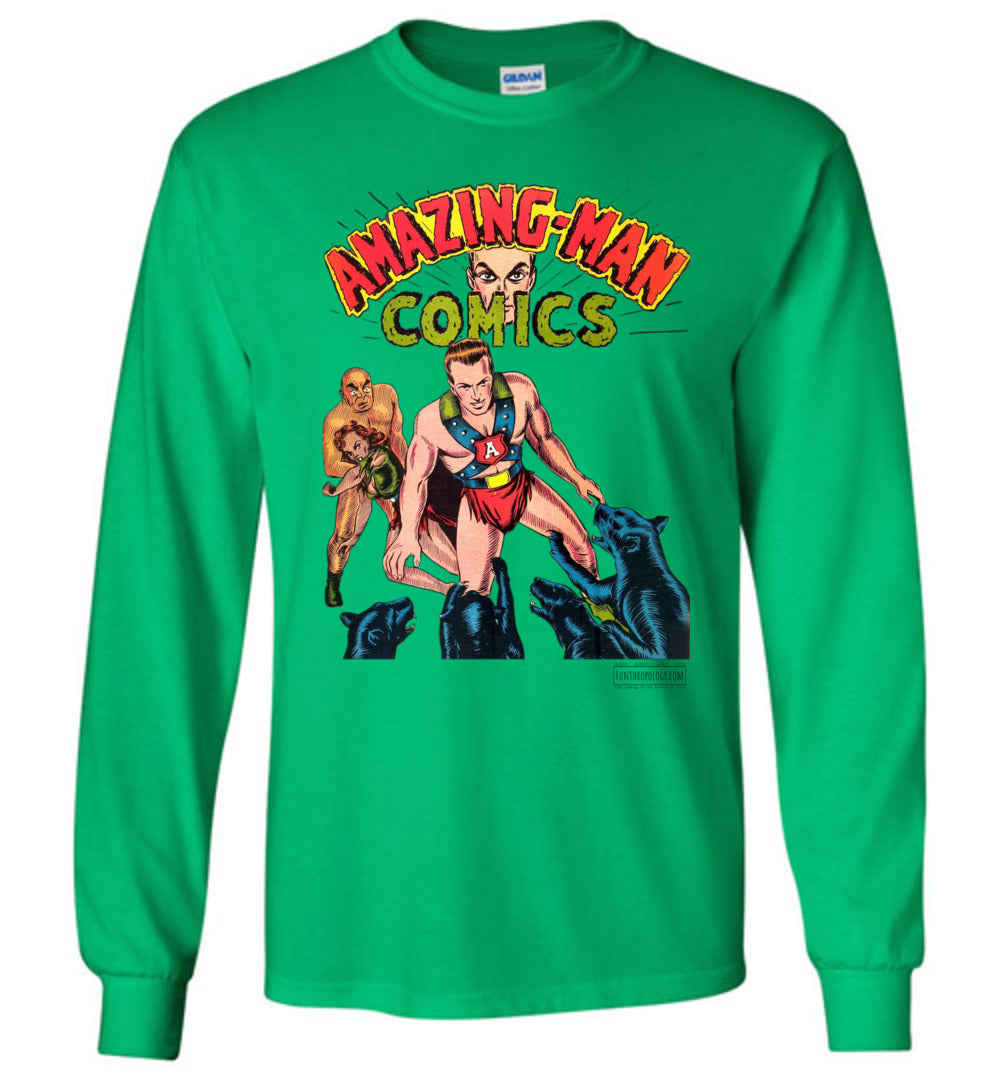 Amazing-Man Comics No.11 Long Sleeve (Youth, Light Colors)