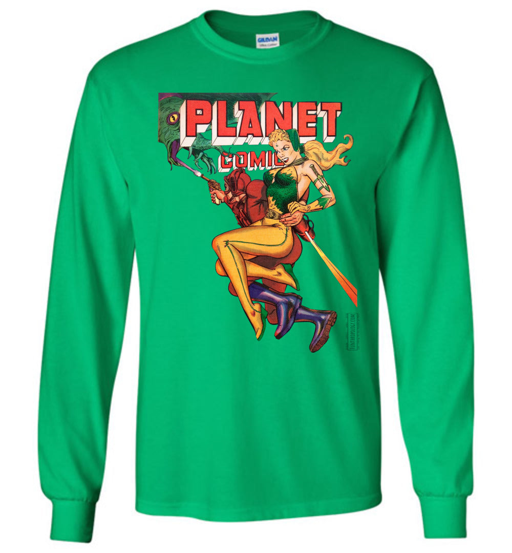 Planet Comics No.66 Long Sleeve (Unisex, Light Colors)
