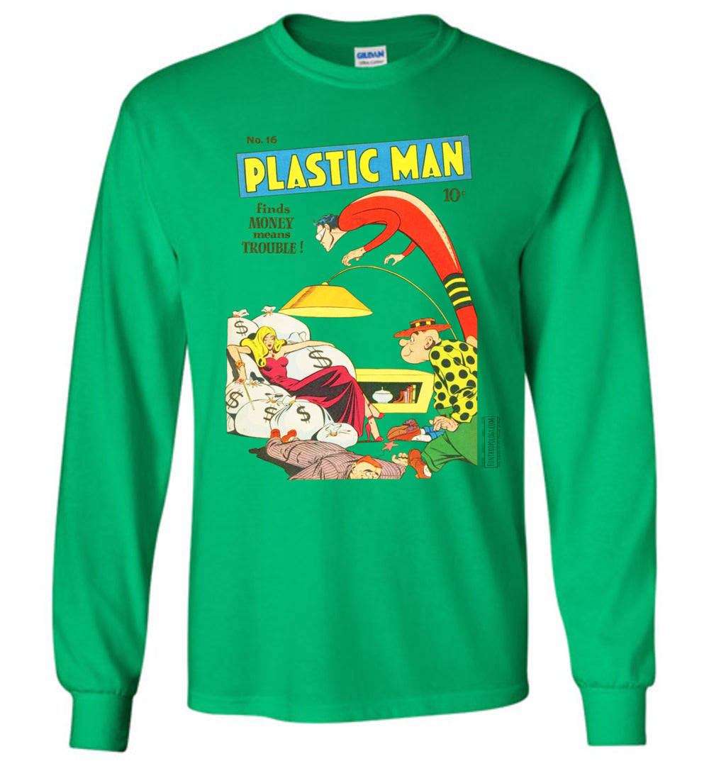 Plastic Man No.16 Long Sleeve (Unisex Plus, Light Colors)