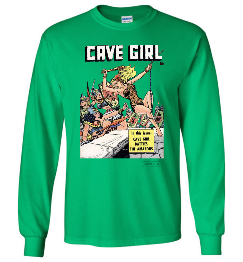 Cave Girl No.13 Long Sleeve (Unisex, Light Colors)