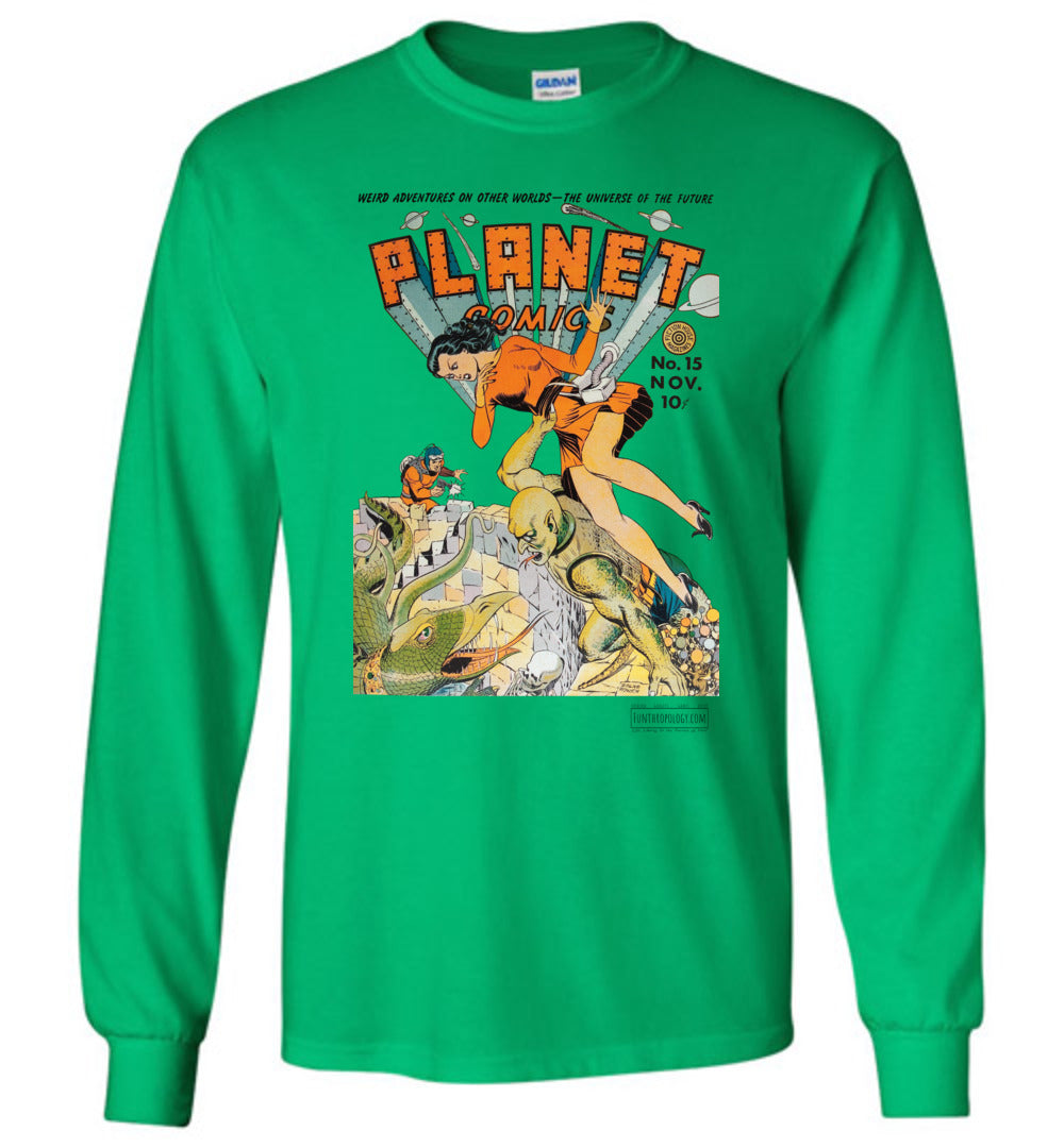 Planet Comics No.15 Long Sleeve (Unisex, Light Colors)
