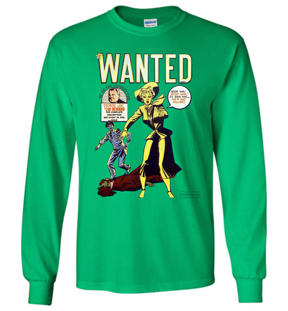 Wanted Comics No.30 Long Sleeve (Unisex, Light Colors)