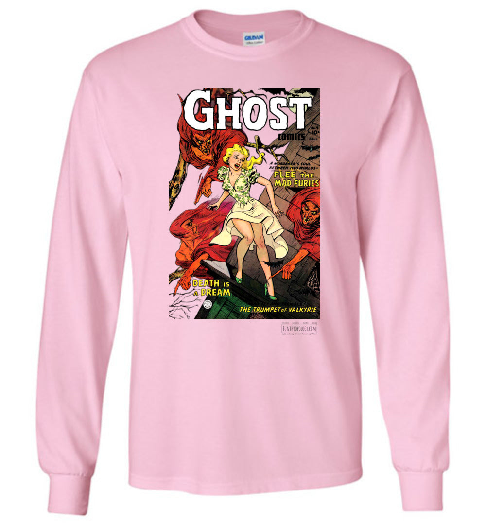 Ghost Comics No.4 Long Sleeve (Unisex, Light Colors)