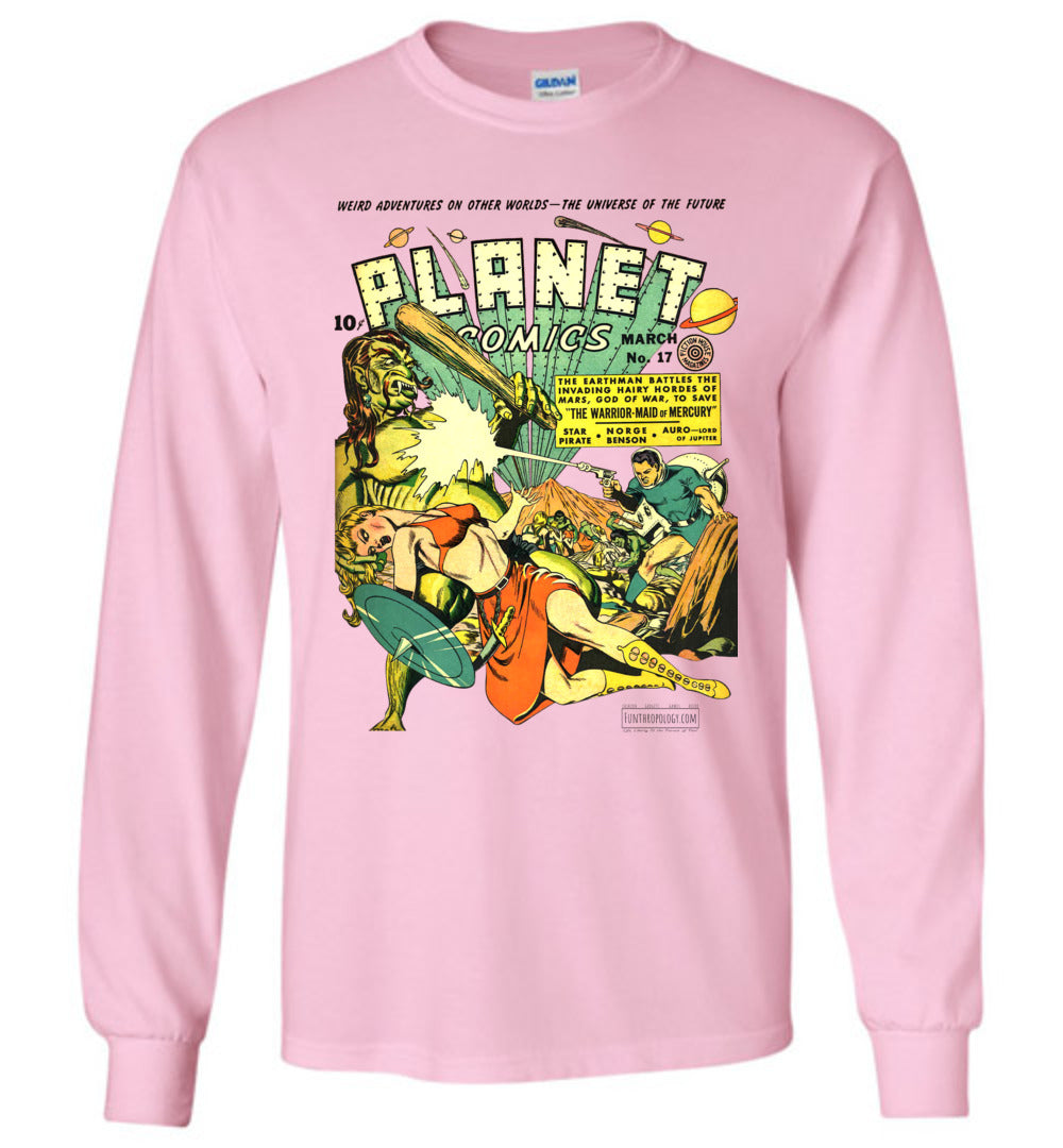 Planet Comics No.17 Long Sleeve (Unisex, Light Colors)