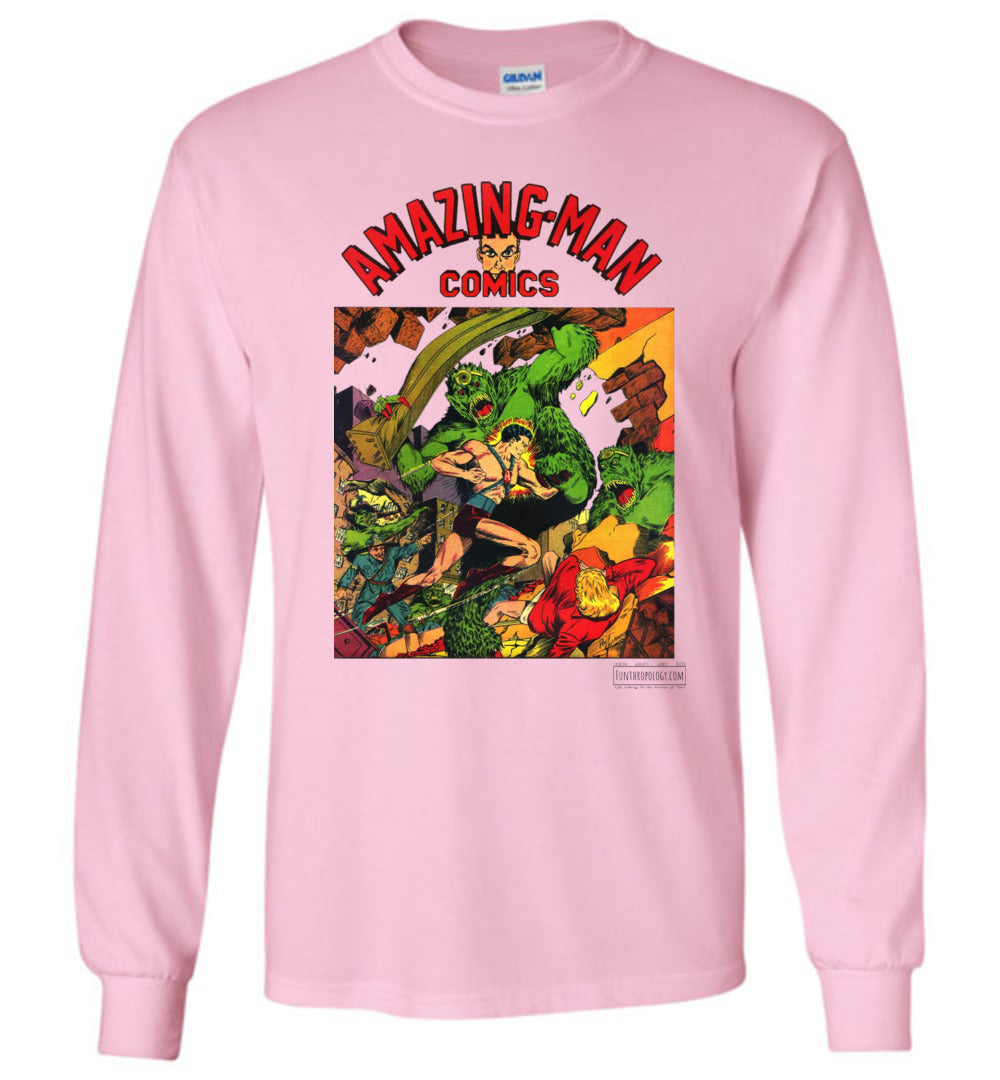 Amazing-Man Comics No.22 Long Sleeve (Youth, Light Colors)