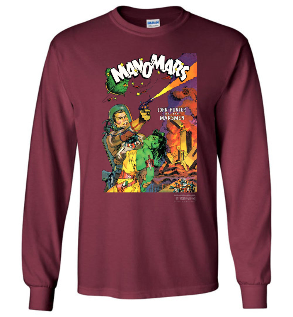 Man O'Mars No.1 Long Sleeve (Unisex, Dark Colors)