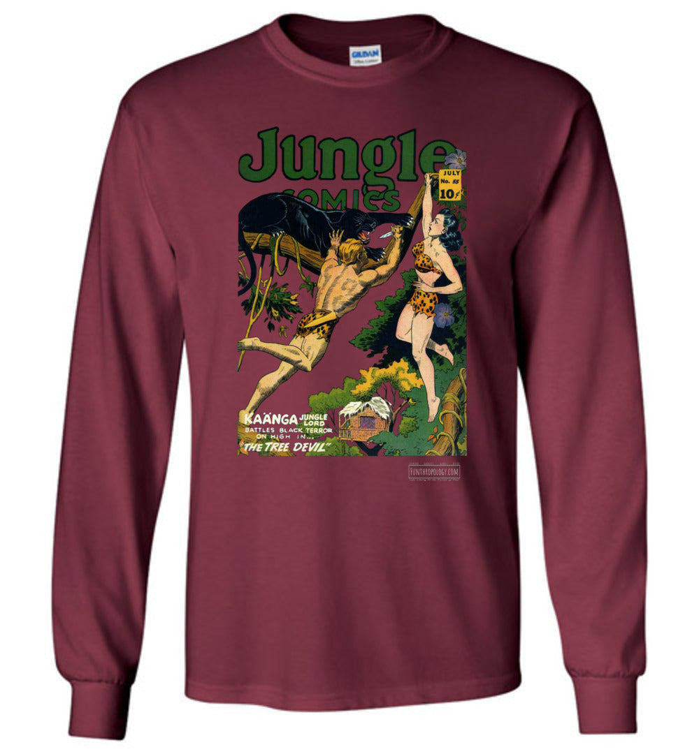 Jungle Comics No.55 Long Sleeve (Unisex, Dark Colors)