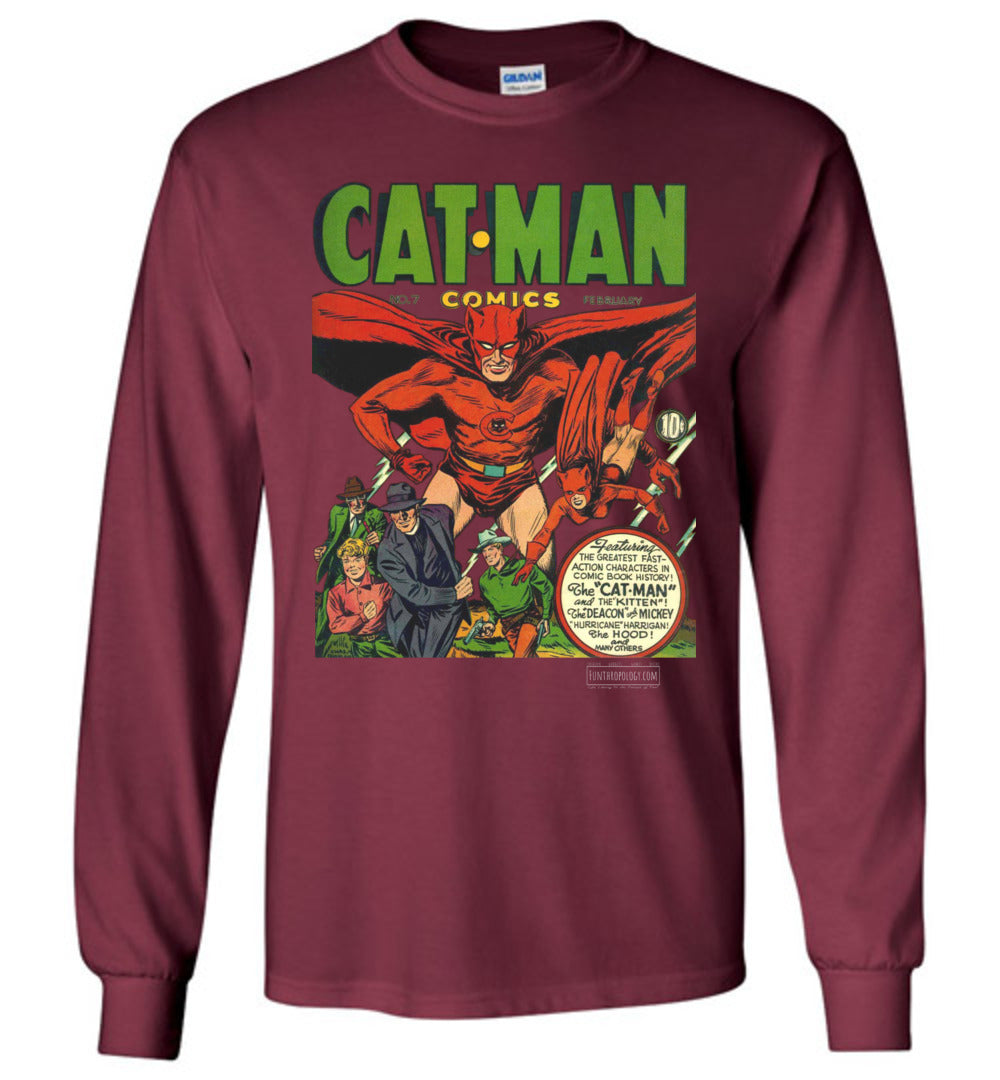Cat-Man No.7 Long Sleeve (Unisex, Dark Colors)