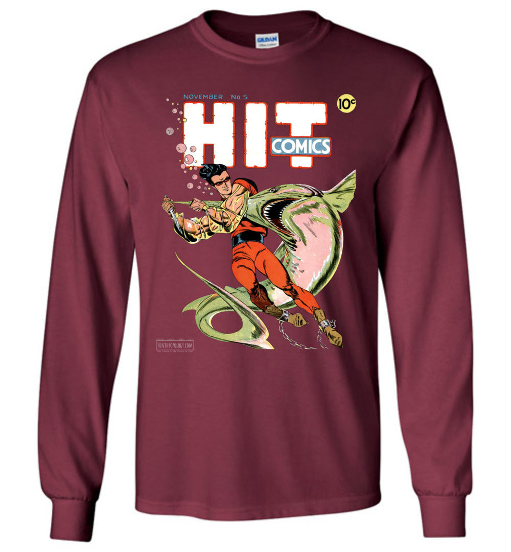 Hit Comics No.5 Long Sleeve (Unisex, Dark Colors)