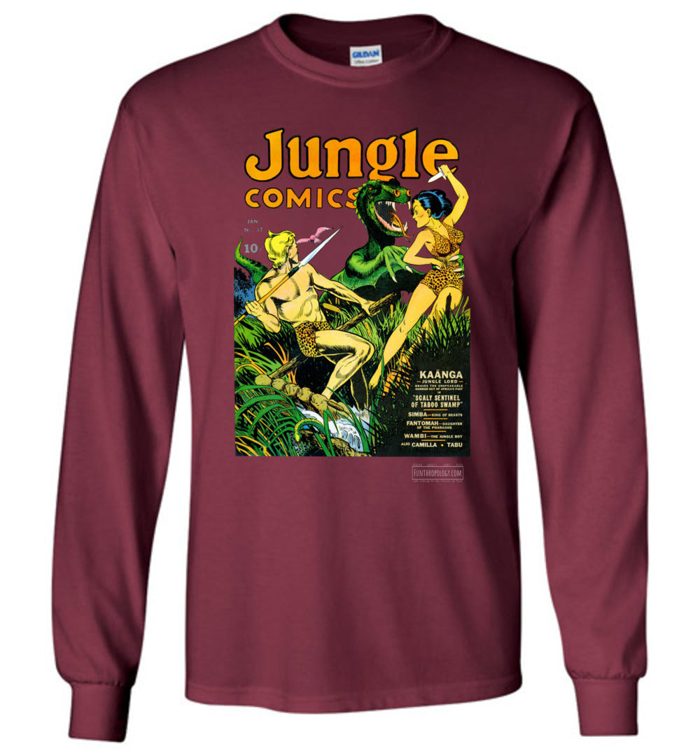 Jungle Comics No.37 Long Sleeve (Unisex, Dark Colors)