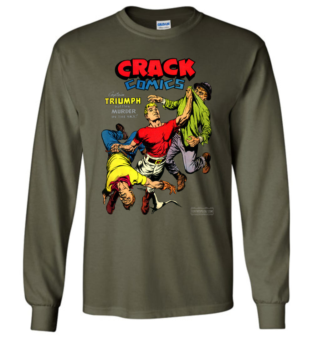 Crack Comics No.48 Long Sleeve (Unisex, Dark Colors)