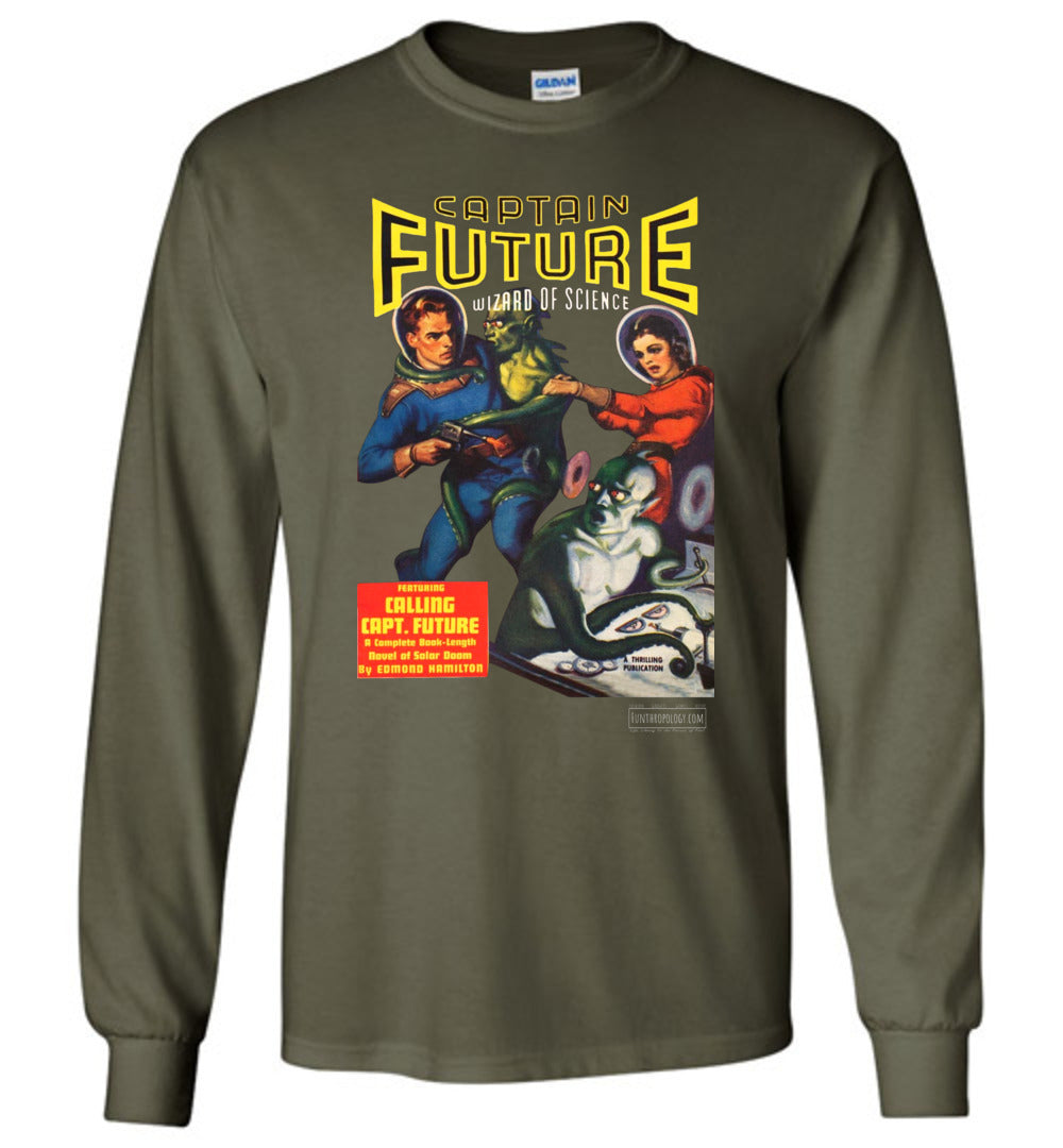 Captain Future No.2 Long Sleeve (Unisex, Dark Colors)