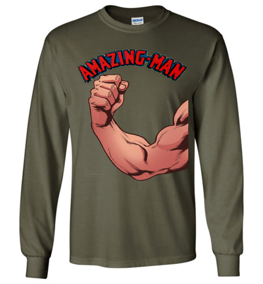 Amazing-Man Strength Long Sleeve (Unisex, Dark Colors)