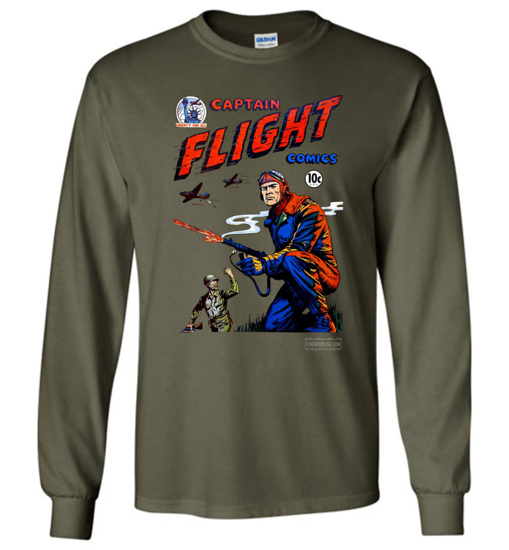 Captain Flight No.3 Long Sleeve (Unisex, Dark Colors)