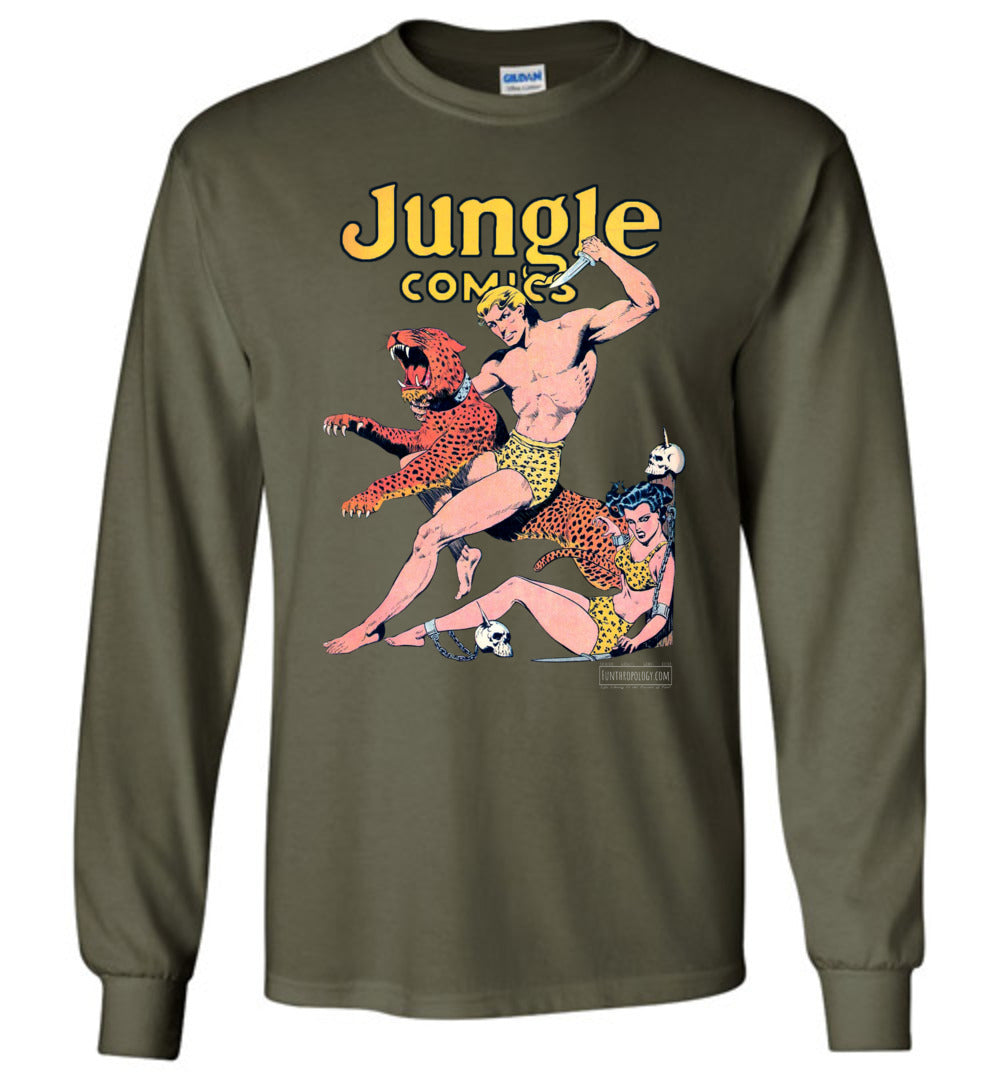 Jungle Comics No.42 Long Sleeve (Unisex, Dark Colors)