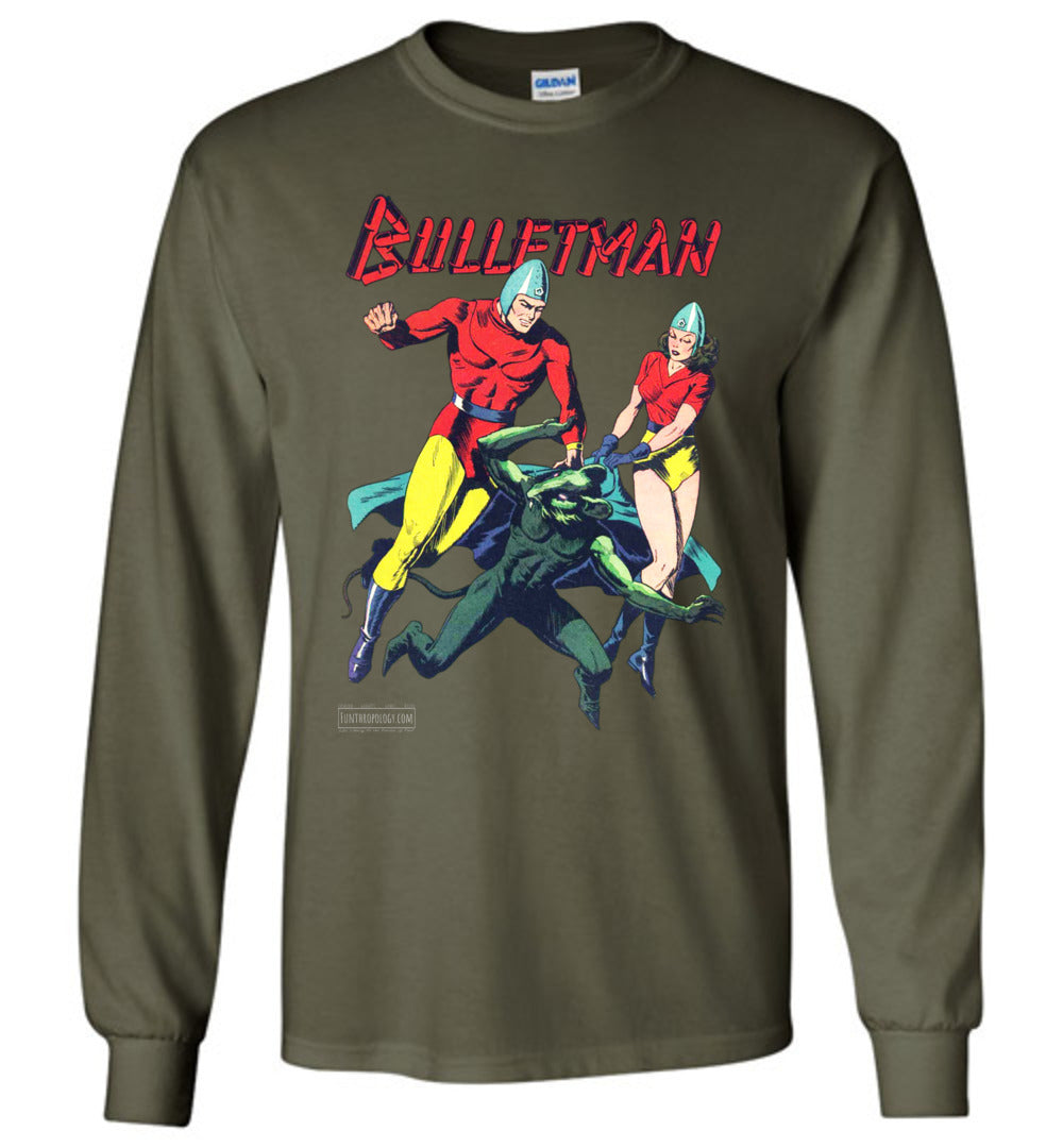 Bulletman No.7 Long Sleeve (Unisex, Dark Colors)