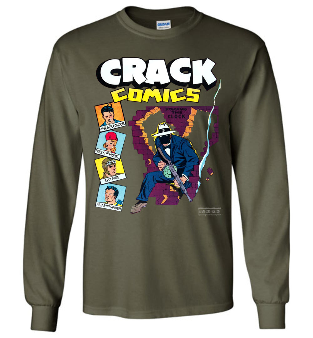 Crack Comics No.19 Long Sleeve (Unisex, Dark Colors)