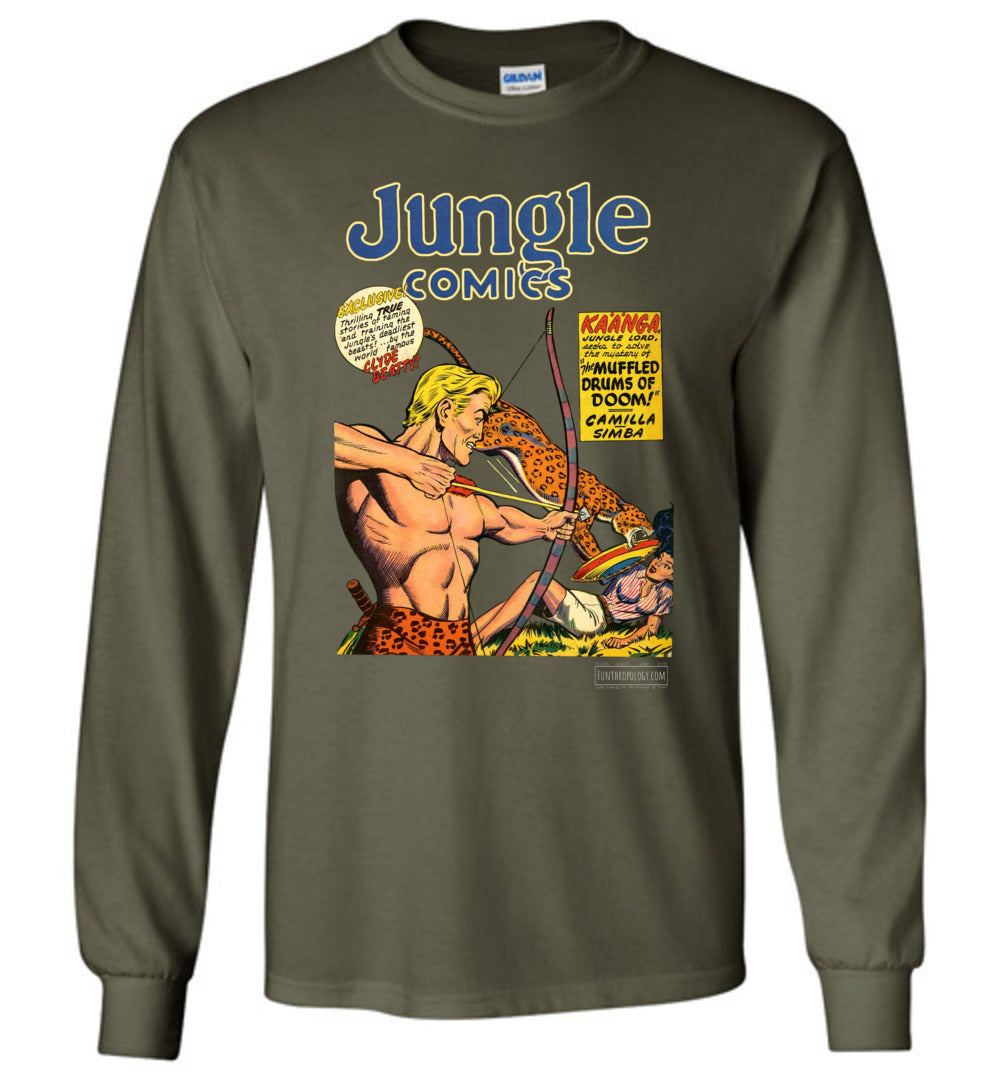 Jungle Comics No.118 Long Sleeve (Unisex, Dark Colors)
