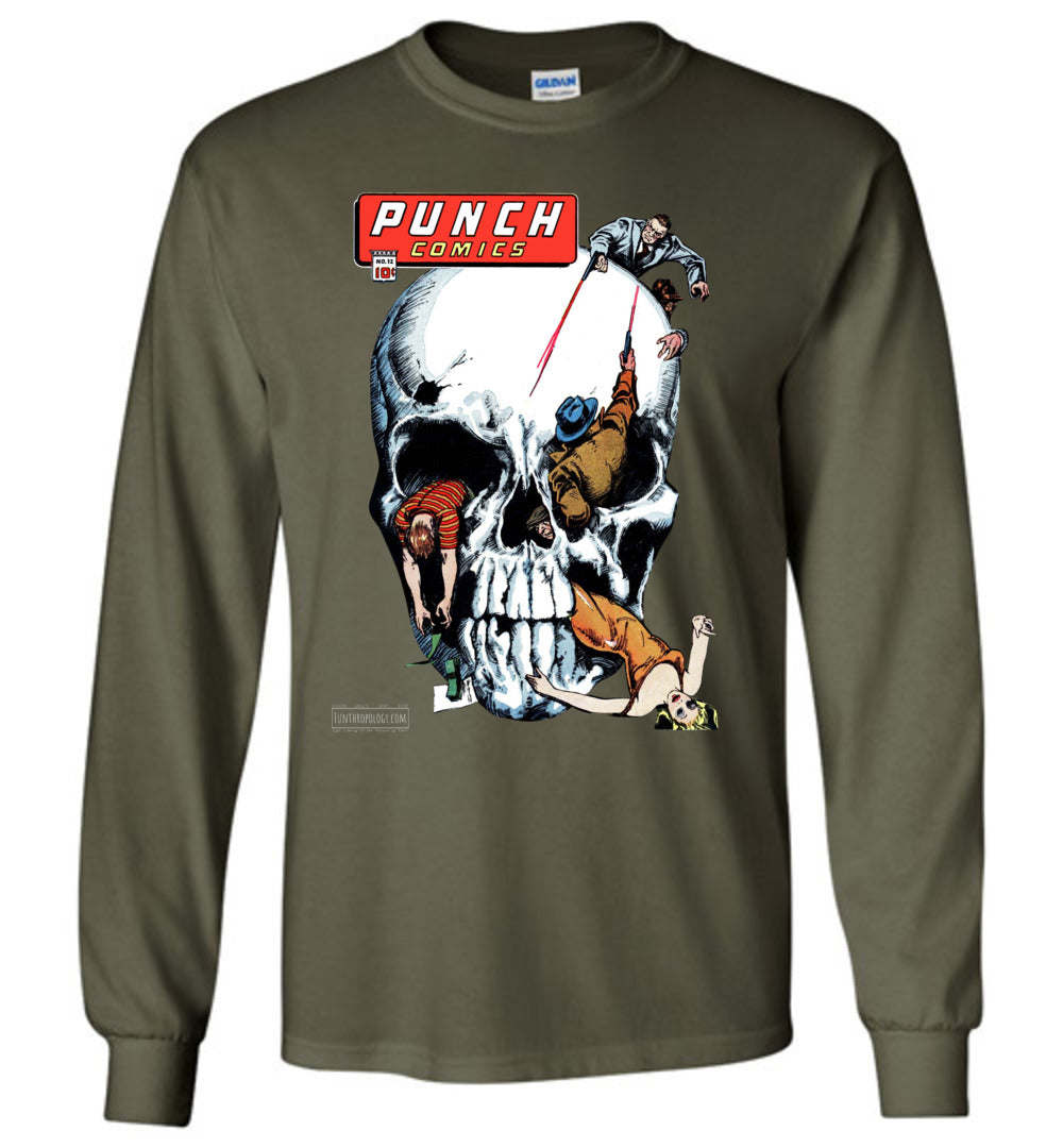 Punch Comics No.12 Long Sleeve (Unisex, Dark Colors)