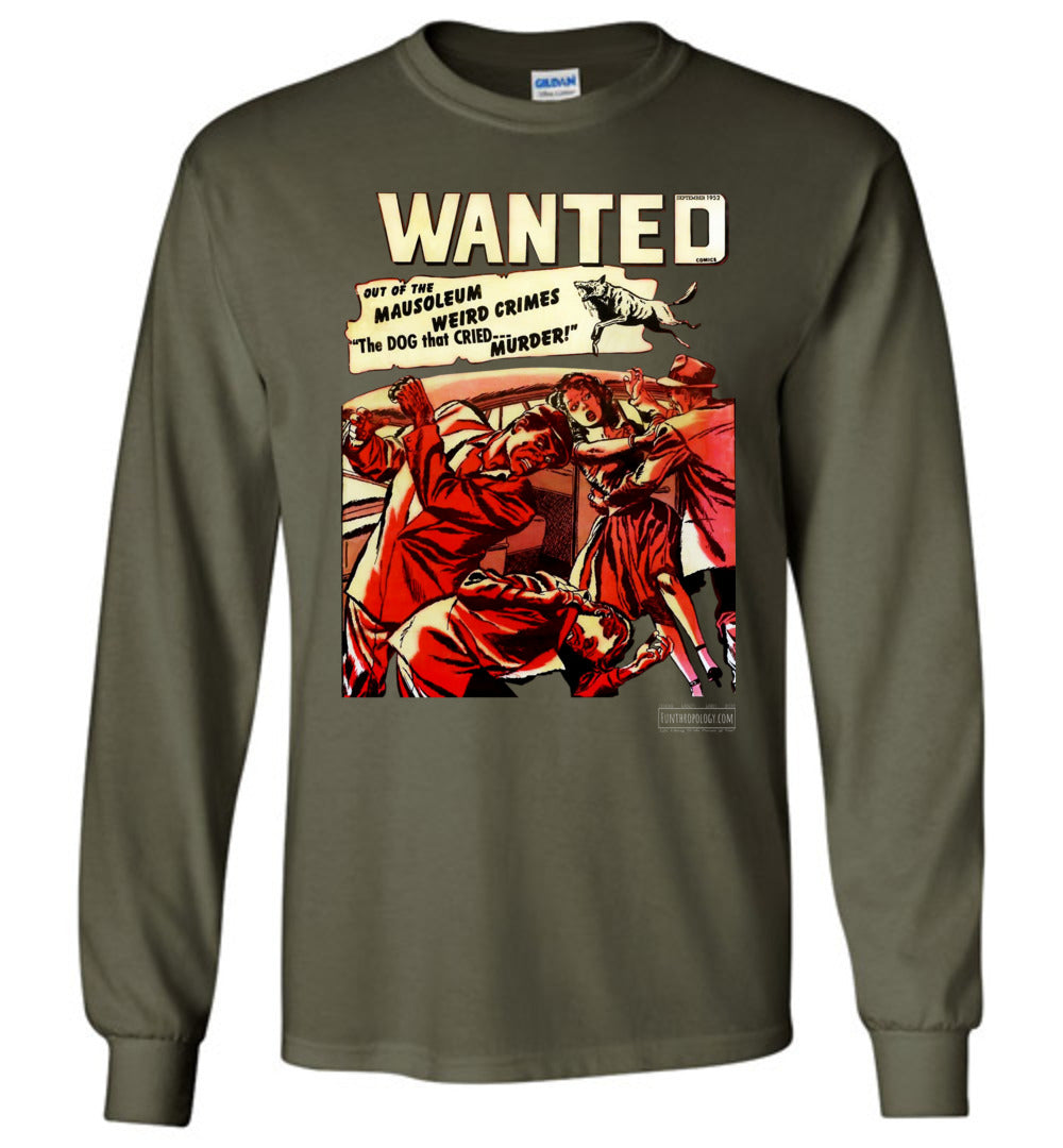 Wanted Comics No.49 Long Sleeve (Unisex, Dark Colors)